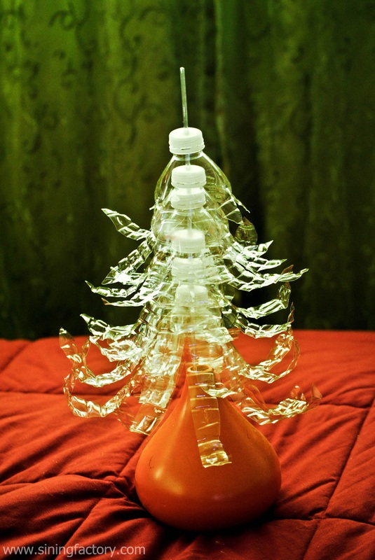how to make a recycled christmas decor plastic bottle
